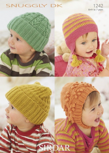 Sirdar  Baby`s and Children`s Hats  in DK -1242